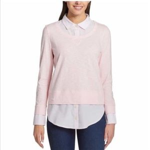 NEW Tommy Hilfiger Women's/Ladies' 2-fer Blouse